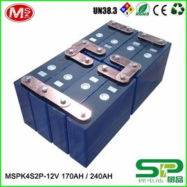 China Long cycle life lithium battery pack 12V 240Ah for electric vehicle or solar power system MSPK4S2P distributeur