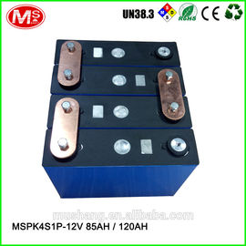 China 12V 85Ah 120Ah rechargeable LiFePO4 battery pack for solar EV solar power and UPS distributeur
